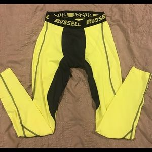 Russell Athletic compression tights, Adult Small